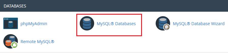 پایگاه داده در cPanel