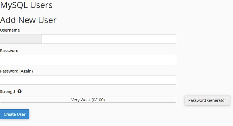 افزودن کاربر پایگاه داده